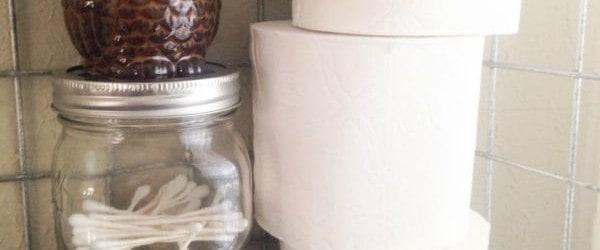 Diy Bathroom Storage Solution The Homespun Hydrangea