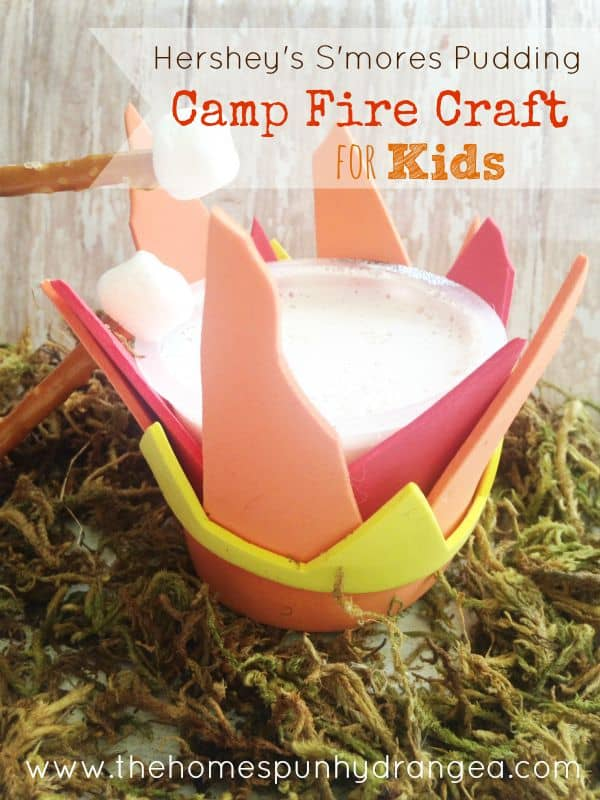 Hersheys Smores Camping Craft For Kids The Homespun Hydrangea