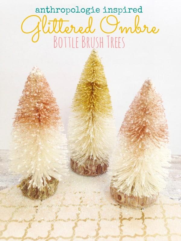 How to Make Bottle Brush Trees Anthropologie
