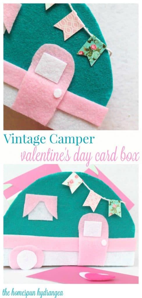 Vintage Camper Diy Valentine S Day Card Box The Homespun Hydrangea