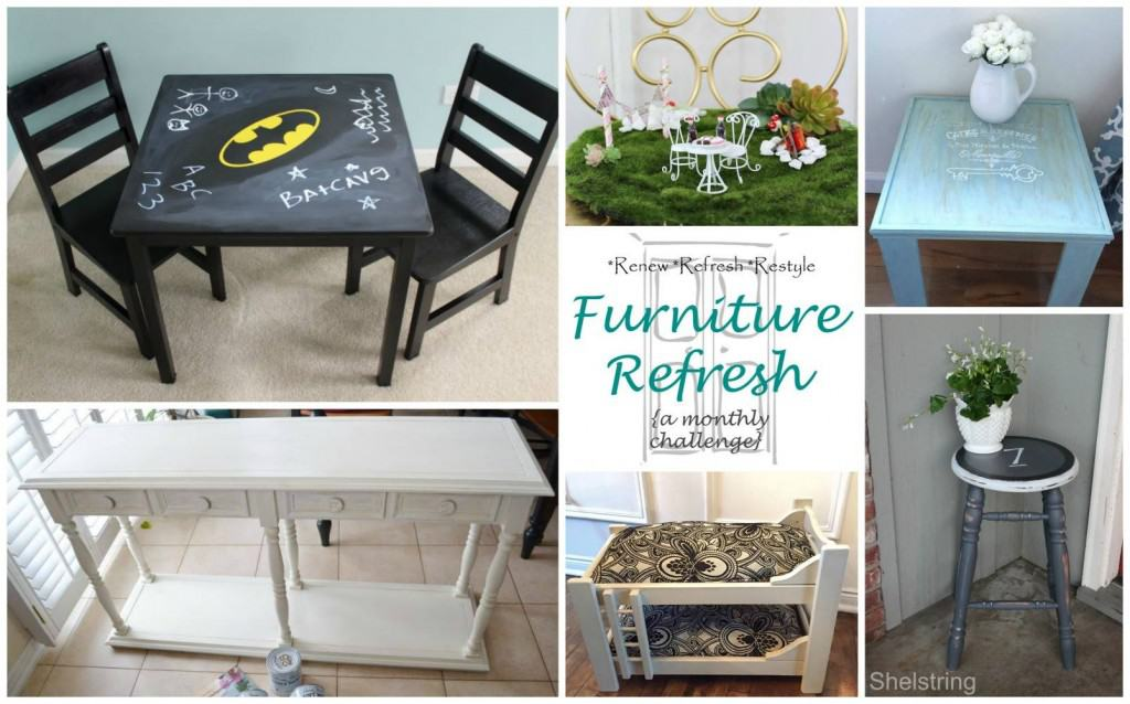 Upcycled Chair Fairy Garden: Furniture Refresh Friday - The Homespun ...