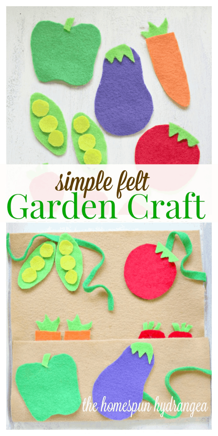 Diy No Sew Frugal Felt Garden Craft For Kids The Homespun Hydrangea