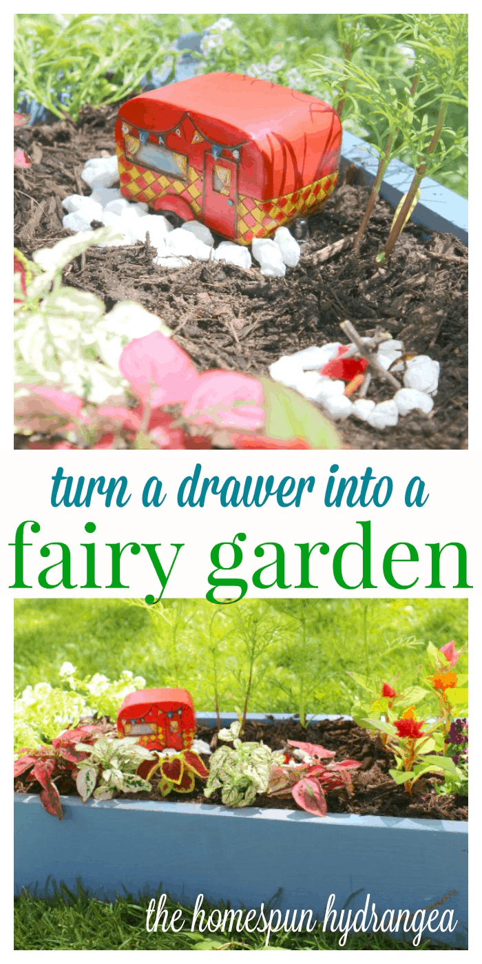 Fairy Garden Pictures How To Make A Fairy Garden Out Of An Old Drawer The Homespun