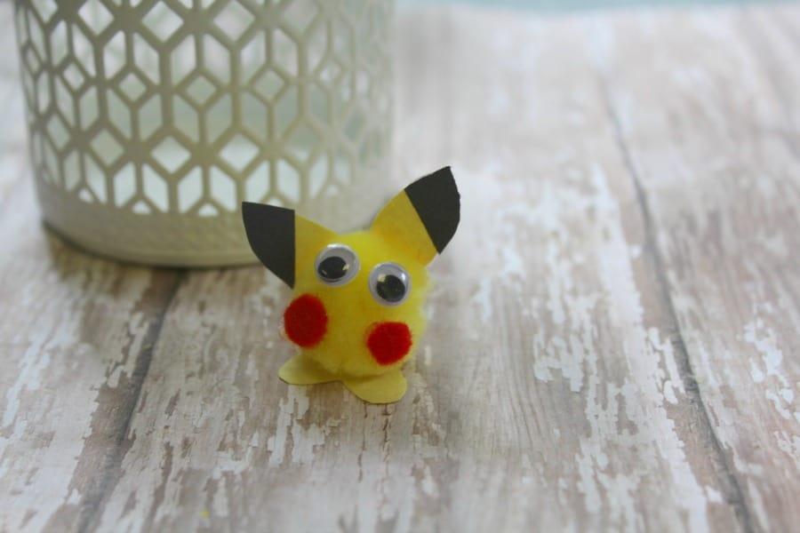 Easy Pokemon Go Pikachu Craft For Kids The Homespun Hydrangea