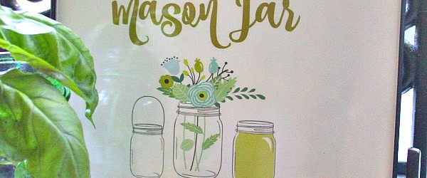 graphic relating to Free Printable Mason Jar Template named No cost Mason Jar Printable Wall Artwork : Cost-free Printables - The