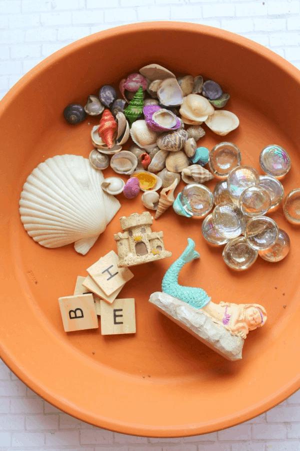 Mermaid Fairy Garden Craft for Kids - The Homespun Hydrangea