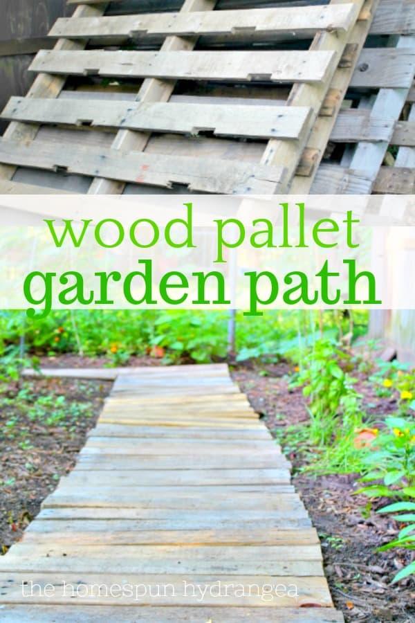 Easy Upcycled Diy Wood Pallet Garden Walkway The Homespun