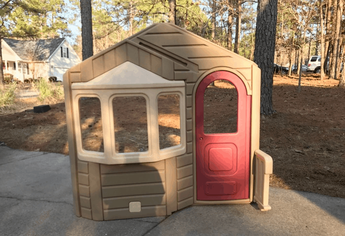 How to Makeover And Repurpose a Little Tikes Playhouse - The ... Inside Fancy Playhouse Designs on fancy chicken coops inside, fancy barns inside, fancy trains inside, fancy restaurants inside, fancy dollhouses inside, fancy schools inside, fancy food inside, fancy houses inside,