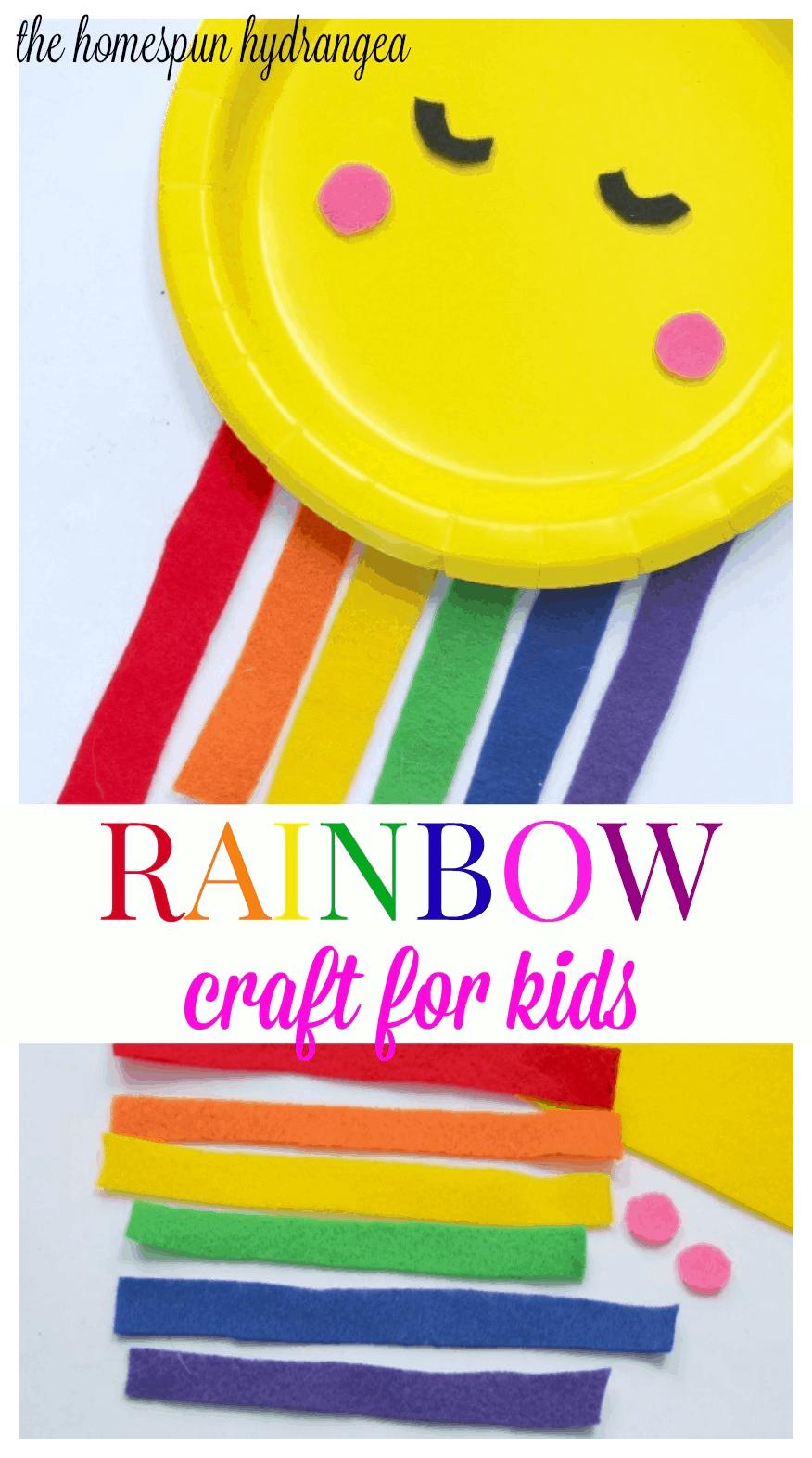 Sweet And Simple Felt Rainbow Craft For Kids The Homespun Hydrangea