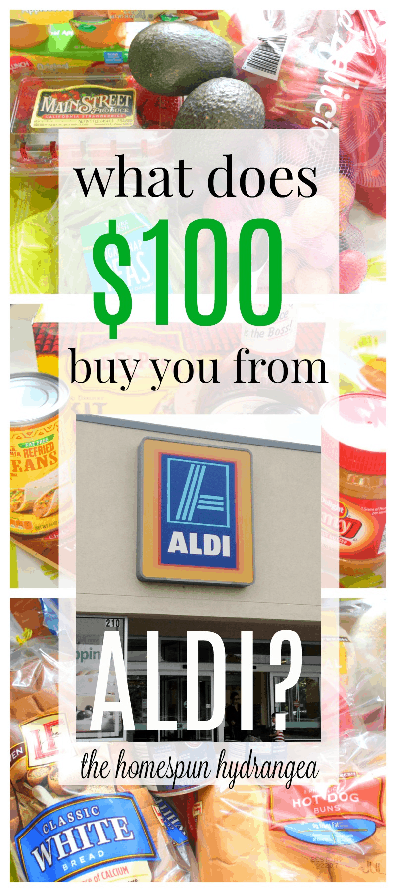 What $100 Can Buy at Aldi - The Homespun Hydrangea