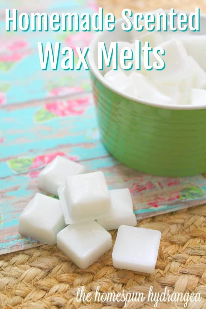 Make Your Own Scented Wax Melts The Homespun Hydrangea