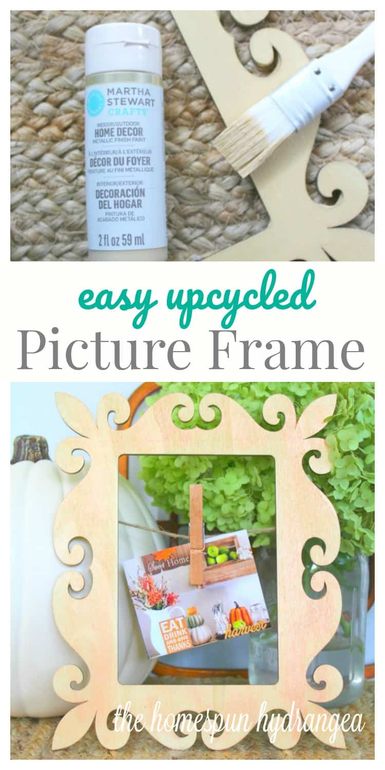 Make It Martha Craft Fall Picture Frame Makeover The Homespun Hydrangea