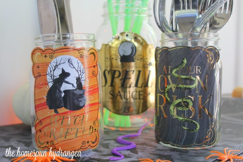 Diy Apothecary Jars For Halloween The Homespun Hydrangea