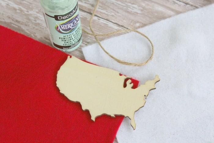 Custom USA Map Christmas Ornament The Homespun Hydrangea