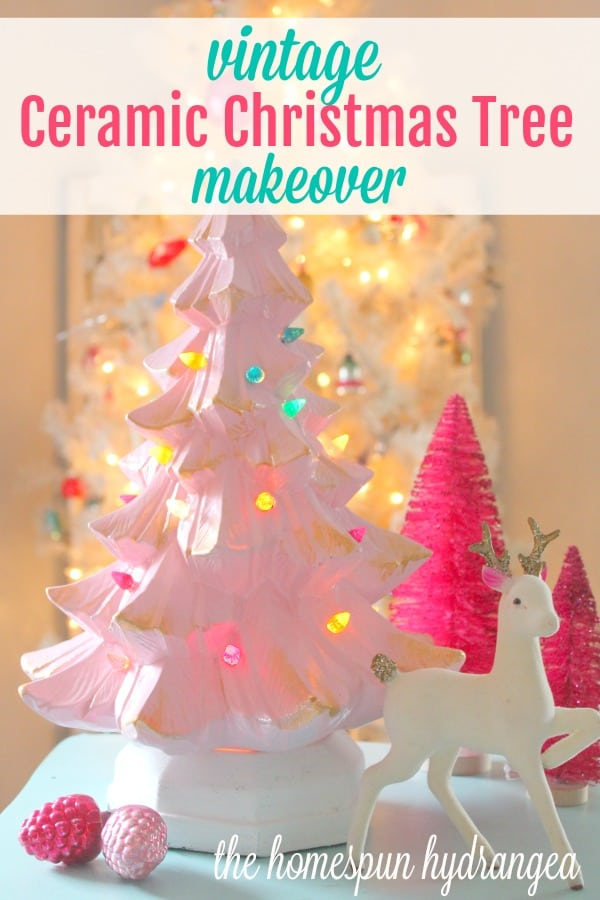 Vintage Ceramic Christmas Tree Makeover Tutorial The Homespun