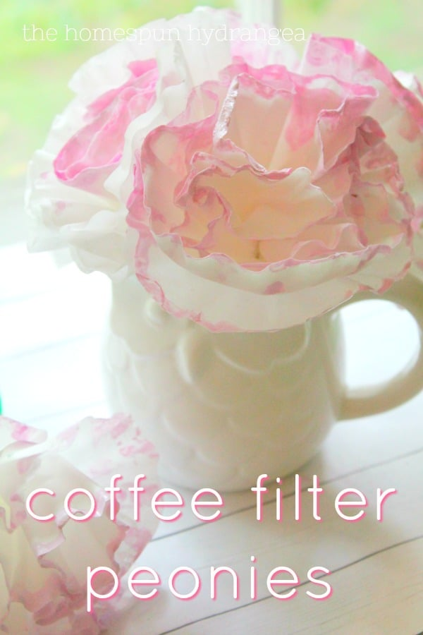 Gorgeous And Simple Paper Coffee Filter Peonies Craft The Homespun