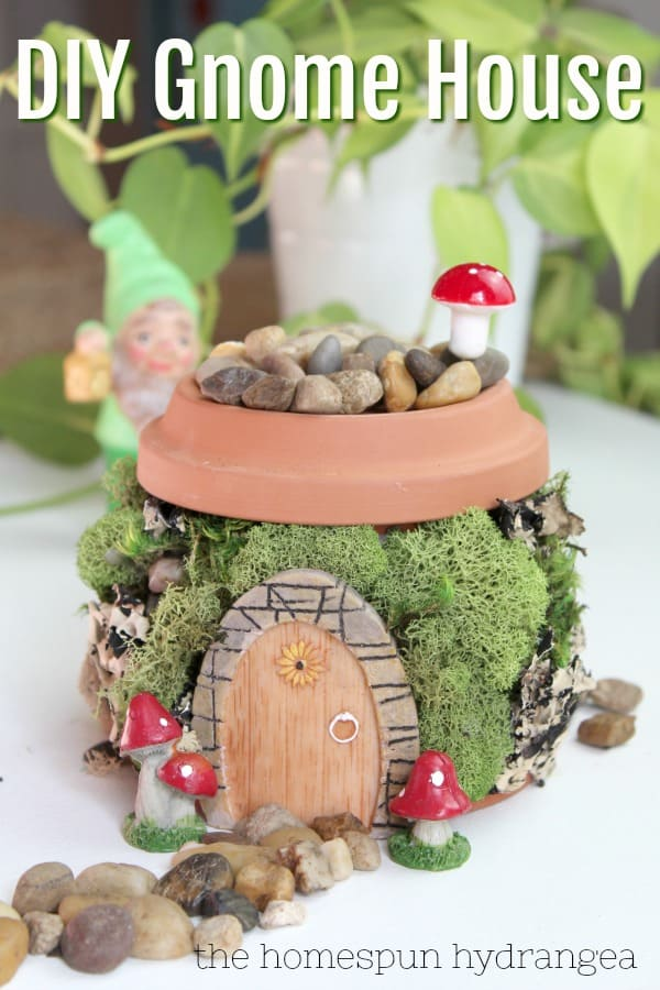 Flower Pot Fairy Garden House The Homespun Hydrangea