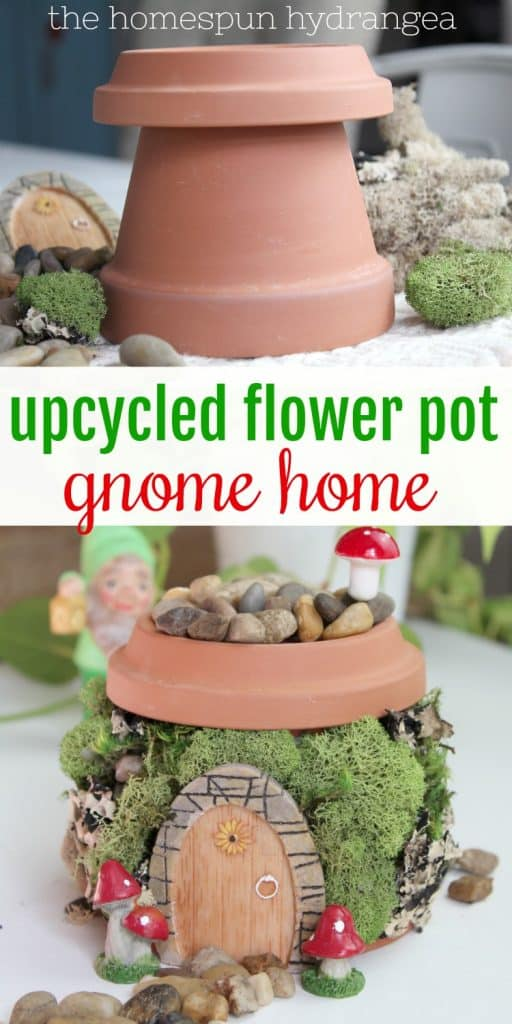 Flower Pot Fairy Garden House The Homespun Hydrangea