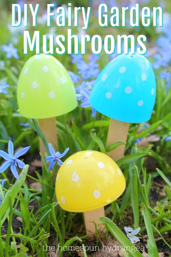 Upcycled Egg Diy Fairy Garden Mushrooms Tutorial