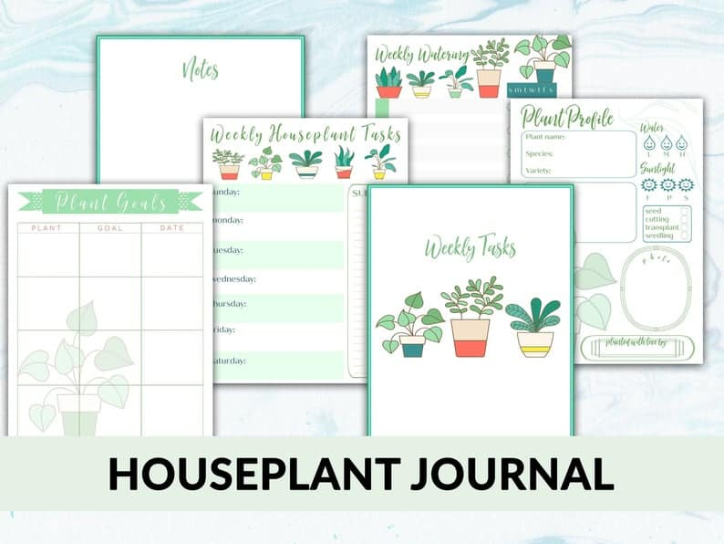 Houseplant Journal on etsy